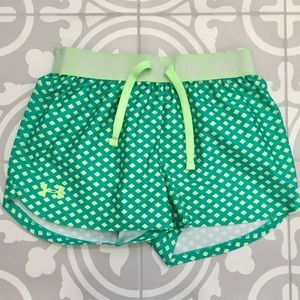 Under Armour teal running shorts